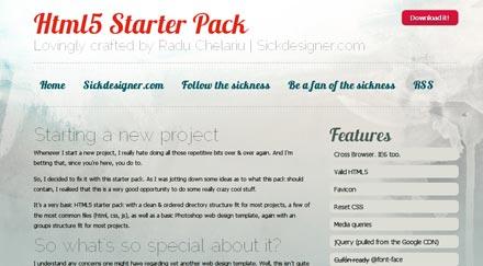 HTML5 Starter Kit è un template che si adatta alle esigenze.