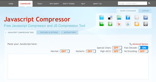 Free Javascript Compressor and JS Compression Tool