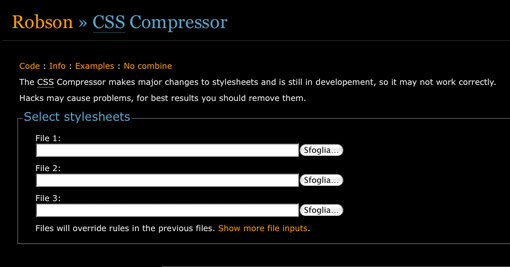 The CSS Compressor